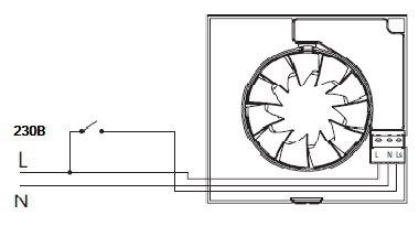 Таймер для выключения вентилятора схема